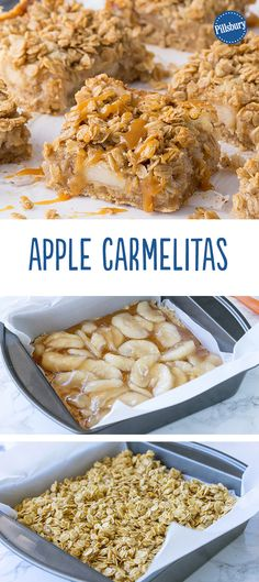 Apple Carmelitas: These ooey-gooey carmelitas are a must-make apple dessert for fall gatherings. Recipe by @pillsbury blogger @iwashyoudry!