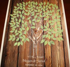 Wood Guestbook Wedding Tree Guest Book on Wedding by fancyprints