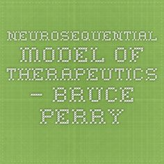 Neurosequential Model of Therapeutics – Bruce Perry