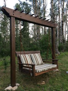 Pergola Swing / Day Bed Swing Although historical within idea, your pergola has been enduring Garden Swing Seat, Pergola Swing, Diy Pergola, Porch Swing, Garden Swings, Pergola With Swings, Bed Swings, Outdoor Pergola, Gazebo