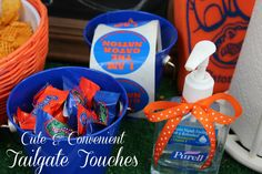 Add cute and convenient details to your tailgate! Tailgate ideas from www.ohmygoodnessgracious.com.