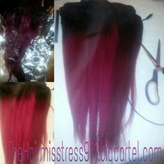 Better picture, has been washed, dyed and re flat ironed  Soft and ready for installation Had a no show and this is it..  I can always prepare more hair for her!!  If you just want the hair no install cool with me .. make an decent offer it can be yours!!  Malaysian 16/18