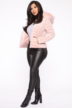Always Ready Velvet Puffer Jacket - Blush – Fashion Nova Classy Fall Outfits, Stylish Outfits, Winter Outfits, Winter Jackets Women, Coats For Women, Clothes For Women, Celebrity Dresses, Puffer Jackets, Leggings Are Not Pants