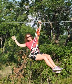 See the Arbuckle #Mountains from a completely unique vantage point and fly along the course at Air Donkey #Zipline Adventures in Davis, #Oklahoma.