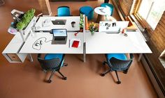 Bivi Collection of Modular Office Desk Systems Workspace Design, Office Interior Design, Office Interiors, Office Designs, Modern Office Desk, Modular Office, Small Space Office, Open Office, Startup Office
