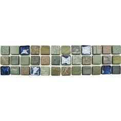 MS International Mixed Slate/Metro Glass Listello 3 in. x 12 in. Floor and Wall Tile (1 in. ft. / piece)-BOR-SLTMTGL - The Home Depot