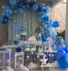 Genius space themed ideas for a baby shower or party! Shower Party, Baby Shower Parties, Baby Shower Themes, Baby Shower Decorations, Baby Boy Shower, Shower Ideas, Balloon Decorations, Birthday Party Decorations, Birthday Parties