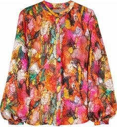 ShopStyle: Preen Sunset printed devoré blouse
