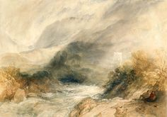 Joseph Mallord William Turner - Lanthony Abbey, Monmouthshire. 1834