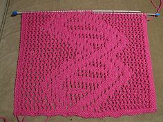 Ravelry: DNA lace scarf pattern by Tuulia Äijö - for all the nerdy  knitters out there! I love this!
