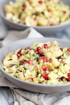 Cabbage, Pear and Roasted Cauliflower Salad: Jessi's Kitchen