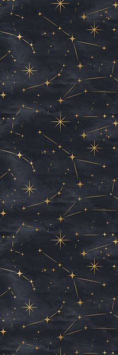 Removable Wallpaper Peel and Stick Wallpaper Self Adhesive Wallpaper Gold Stars on Black Background