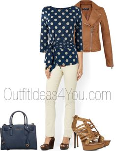 What a cute way to transition into the warmer weather. For those chilly mornings, wear your leather jacket... you can even wear a denim jacket with this outfit instead.  Scroll down to shop this look!  This outfit would look great on a Light Spring, Deep Autumn, and Soft Autumn. The blue is a li