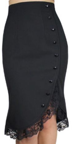 -Lacey Tulips- Vintage Style 40s 50s Retro Black Lace Ruffle Pencil Skirt at Amazon Women's Clothing store: https://www.amazon.com/gp/product/B01111MZ04/ref=as_li_qf_sp_asin_il_tl?ie=UTF8&tag=rockaclothsto-20&camp=1789&creative=9325&linkCode=as2&creativeASIN=B01111MZ04&linkId=b31ee50060c07b7e4967c37536cf4fbc