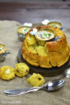 Süßkartoffel Feta Monkey Bread & Süßkartoffel Linsen Suppe | Das Knusperstübchen