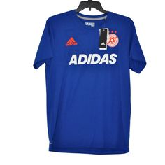 Adidas Soccer Men's Tee Equalizer Collegiate Royal Short Sleeve size L NWT #adidas #EmbellishedTee