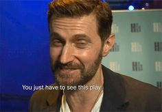 "Richard Armitage at London's Hampstead Theatre to see ""Wild"". Speculation has him rehearsing ""Love, Love. Love"", but no one will confirm it.  The play is scheduled for NYC from 22 September until 7 November 2016 (?)  tumblr_o98ph3DQ6l1uz0o7yo1_540.gif (540×377)"