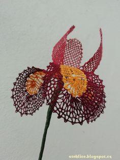 Kosatec/Bobbin lace Iris Bobbin Lace, Iris, Lace, Bobbin Lacemaking, Bearded Iris, Irises