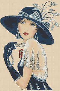 Cross stitch chart Art Deco Lady in Art Deco Illustration, Illustrations Vintage, Art Pictures, Art Images, Art Deco Cards, Art Deco Paintings, Art Deco Stil, Art Deco Posters, 1920s Art
