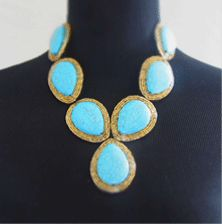 Perfect with a summer glow and a white dress!