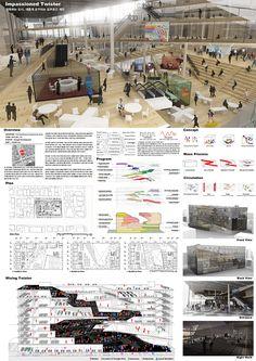 이미지를 클릭하면 창이 닫힙니다. Concept Board Architecture, Architecture Presentation Board, Arch Architecture, Education Architecture, Interior Design Presentation, Presentation Styles, Wordpress Theme, Window Grill Design, Public Space Design