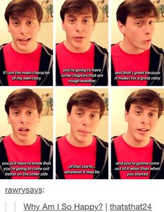 I don't care if I have pinned this before, this is freaking amazing and I love him. Stay strong, lovelies