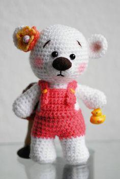 Teddy's - Jzamell Teddy's & Co. Amigurumi Teddy Bär  gehäkelt... meine persönliche Teddy'line mit Enten Bimmel Glocke