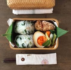 @yu__gohan Japanese Lunch, Japanese Food, Meal Box, Apple Strudel, Rice Balls, Bento Box Lunch, Kids Meals, Goodies, Food And Drink