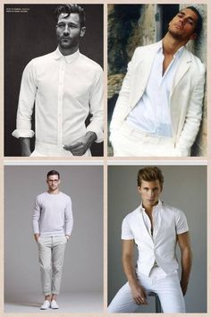 23a11806 men's all white outfit. White vest, white button down shirt and ...