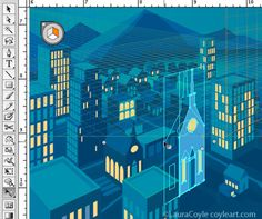 illustrator perspective grid tutorial   Laura Coyle