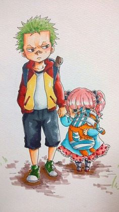Zoro Perona - One Piece Chibi Cute One Piece Manga, Zoro One Piece, One Piece Ship, One Piece World, One Piece Fanart, Manga Anime, Fanart Manga, Fanarts Anime, One Piece Images
