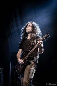 Jim Matheos of Fates Warning, concert in Krakow, Poland, Nov 2014