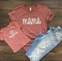 Mama and lil Mama Shirt Mama Shirts, Mom And Me Shirts, Mommy And Son, Mom Daughter, Mother Daughter Shirts, Baby Kind, My Baby Girl, Baby Baby, Mommys Girl