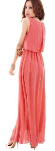 Demarkt Women's Sleeveless Chiffon Maxi Long Dress Casual Dress Beach Dress (Small, Pink) Demarkt,http://www.amazon.com/dp/B00J8AG0OS/ref=cm_sw_r_pi_dp_7Hjttb1V92SRB3QT