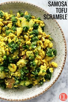Packed with creamy potato chunks, sweet green peas, and a blend of spices, this tofu scramble is anything but average. | Cooking Light
