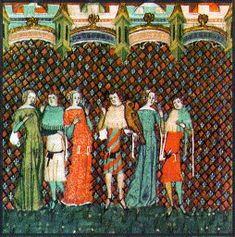 Informative website 14th c clothing. These knights and ladies are wearing the fashionable clothes of the 14th Century. Fashions did not change as quickly as they do today, but they did change, particularly among the rich. Those who were not wealthy could not afford to follow fashions but wore cheap clothes, comfortable for working in.