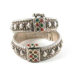 Heavy Antique Sindhi Cuffs - Very Petite