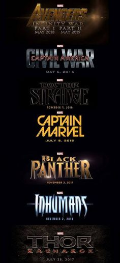 It's Official! Marvel Unveils Phase 3 of Cinematic Universe! And Captain  Marvel is on the list!!!!
