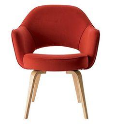 the saarinen executive armchair (need) + saarinen round dining table (have) = happy eater
