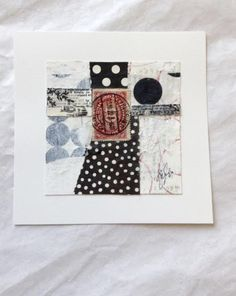 Caterina Giglio mixed media artist. So simple and elegant. Love love love the black and white dots!