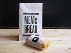 Meat & Bread by Glasfurd and Walker, via Behance #packaging #design