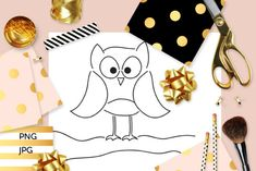 Hoot Owl Coloring (Graphic) by Revidevi · Creative Fabrica Owl Coloring Pages, Digital Stamps, Gift Cards, Making Ideas, Craft Projects, How To Draw Hands, Card Making, Drawings, Creative