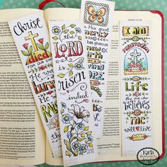 NEW Easter Bible Bookmarks Bible Journaling Tags by karladornacher