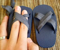 Feather's Flights {a creative, sewing blog}: Baby Sandals From Old Flip-Flops Tutorial