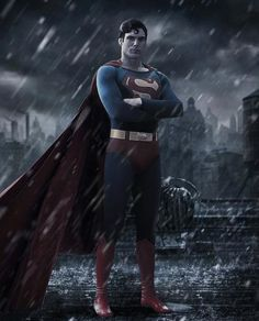Christopher Reeve Batman v Superman Poster