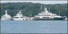 A few of the nice yachts visiting Port Jefferson Harbor
