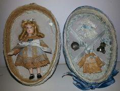 Huevo con muñeca de porcelana realizado en el taller TM.