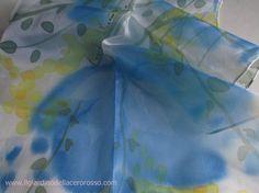 Sciarpa foglie di primavera sciarpa di ilgiardinoacerorosso