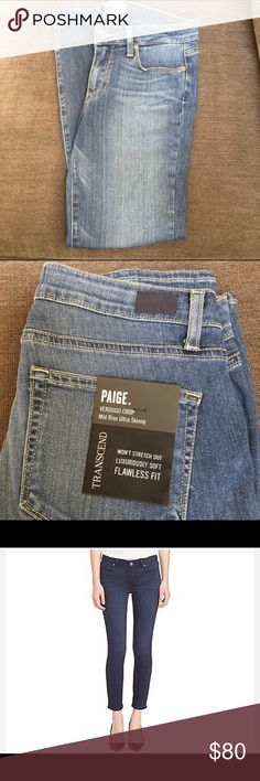 Paige Verdugo Crop Ultra Skinny Jeans NWT. This denim is very soft. You'll be so comfortable in it! Paige Jeans Jeans Ankle & Cropped