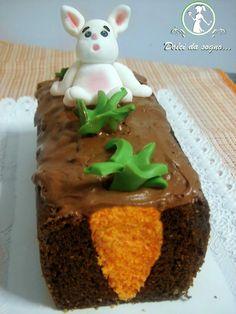 Plumcake con disegno carota